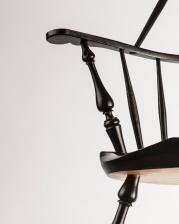 Sack back armchair detail