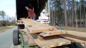 unloading butternut